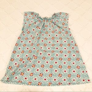 Hanna Andersson Blue White Floral Top 120/6-7